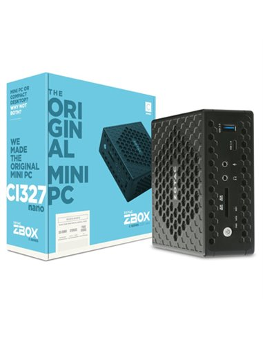 MINIPC ZOTAC ZBOX-CI327NANO-BE BAREBONE INTEL N3450 QUAD CORE 2XSLOT-DDR3L 1SLOT-SATA3 DUAL-GLAN HD-GRAPHICS WIFI BT DP HDMI VGA