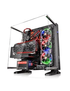 "CABINET ATX MIDDLE TOWER THERMALTAKE CORE P3 CONCEPT CASE BLACK 2+2X3.5"" O 2+2X2.5 8 SLOT 2USB3 2USB2 LATO TRASPARENTE NO ALIM"