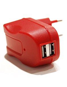 ALIMENTATORE USB DA CASA 2P TECNOWARE SOS FAM16295 ROSSO OUT:1X1A +1X2,1A IN:100/240VAC