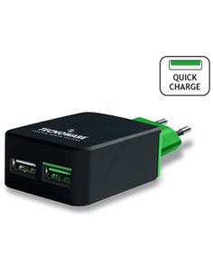 ALIMENTATORE USB DA CASA 2P (1 QUICK CHARGE) TECNOWARE HD FAM17415 NERO OUT:4,5A IN:100/240VAC