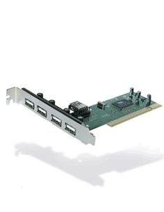 SCHEDA INTERFACCIA PCI 4+1P USB2.0 ATLANTIS P001-USB20-PCI EAN 8026974013015 -GARANZIA 2 ANNI-