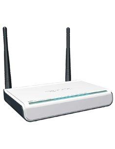 """WIRELESS ROUTER """"N""""ADSL2+ TENDA TD-W300D 300M 802.11BGN 4P LAN 10/100- 2 ANT. 5DBI-PULSANTE WPS- GARANZIA 2 ANNI-"""