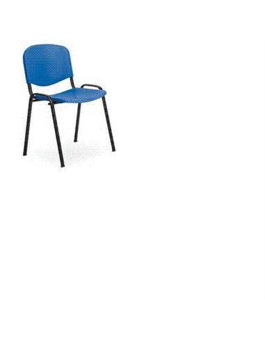 SEDIA IMPILABILE IN PVC BLU STRUTTURA METALLICA 460X400X780H EDUCATIONAL COSTO TRASPORTO DA SOMMARE 2,5€ ORDINE MINIMO 10 PEZZI
