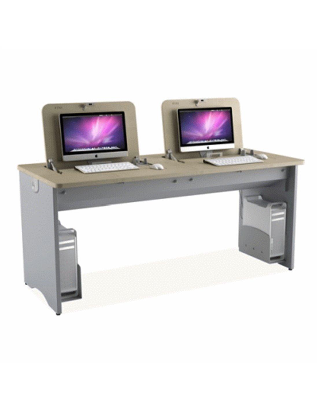 Scrivania Con Monitor A Scomparsa.Arredi Scolastici Oem Tavolo Imo X 2 Monitor Max 22 E Tastiera O