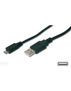 CAVO USB2.0 A-MICRO B M/M 1MT DIGITUS AK112001/DK/AK-300110-010 -S NERO CONNETTORE USB TIPO A MASCHIO/MICRO B MASCHIO