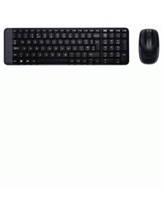 TASTIERA+MOUSE WIRELESS LOGITECH RETAIL MK220 USB NERO P/N 920-003721