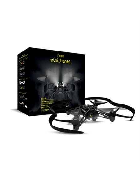 MINIDRONE PARROT AIRBORNE NIGHT SWAT QUADRICOTTERO BT CAM 480X640 CONTROL 20M COMP. ANDROID/APPLE BATT 550MAH FLASH1GB LUCI LED