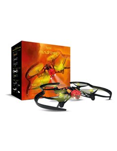 MINIDRONE PARROT AIRBORNE NIGHT BLAZE QUADRICOTTERO BT CAM 480X640 CONTR 20M COMP. ANDROID/APPLE BATT 550MAH FLASH1GB LUCI LED