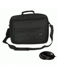 "BORSA NB + MOUSE 16.1"" ATLANTIS P004-K261-16+M NYLON NERA MOUSE OPT 3TASTI+SCROLL - EAN 8026974015071 FINO:08/01"