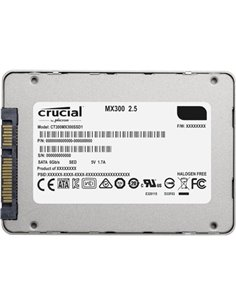 """SSD-SOLID STATE DISK 2.5"""" 275GB SATA3 CRUCIAL MX300 CT275MX300SSD1 READ:530MB/S-WRITE:500MB/ S"""