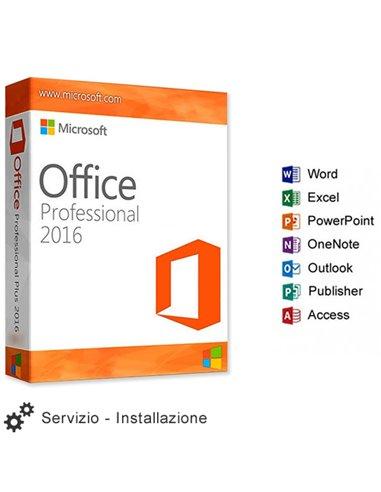 Servizio Installazione Microsoft OFFICE 2016 PROFESSIONAL