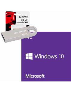 KIT USB 8GB ISO MICROSOFT WINDOWS 10 PROFESSIONAL 32/64 BIT ITA