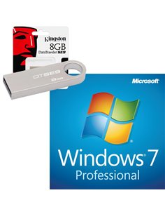 KIT USB 8GB ISO MICROSOFT WINDOWS 7 PROFESSIONAL 64 BIT ITA