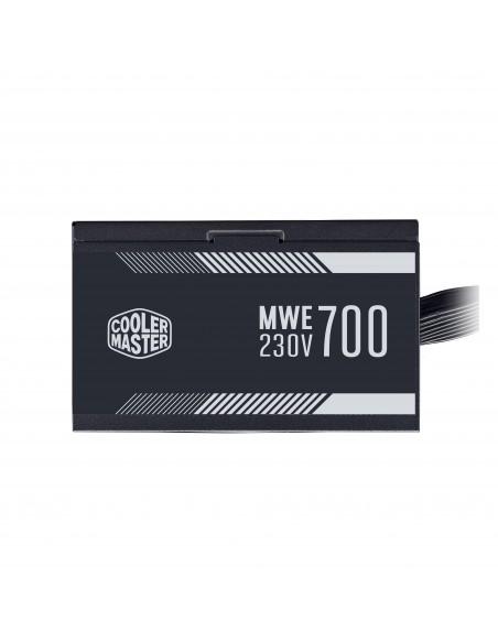 ALIMENTATORE ATX 700W COOLERMASTER MWE WHITE MPE-7001-ACABW-EU PFC ATTIVO 240VAC FAN120MM CAVO EU FINO 31 12