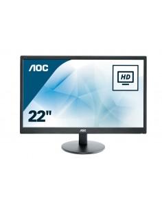 """MONITOR AOC LCD LED 21.5"""" WIDE E2270SWN 5MS FHD 700 1 BLACK VGA VESA FINO 04 12"""