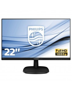 "MONITOR PHILIPS LCD IPS LED 21.5"" WIDE 223V7QHAB 00 4MS SOFTBLUE MM  FHD 1000 1 BLACK VGA HDMI VESA  FINO 04 12"