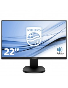 "MONITOR PHILIPS LCD IPS LED 21.5"" WIDE 223S7EYMB 00 5MS MM SOFTBLUE 0.248 FHD 1920X1080 1000 1 BLACK VGA DP VESA FINO 12 01"