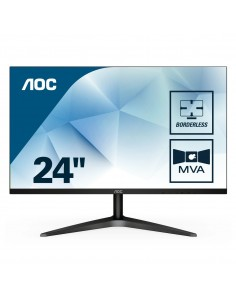 "MONITOR AOC LCD MVA LED 23.6"" WIDE 24B1H 5MS FHD 3000 1 BLACK VGA HDMI FINO 04 12"