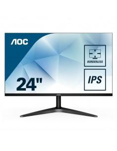 "MONITOR AOC LCD IPS LED 23.8"" WIDE 24B1XHS 7MS FHD 1000 1 BLACK VGA HDMI VESA FINO 04 12"