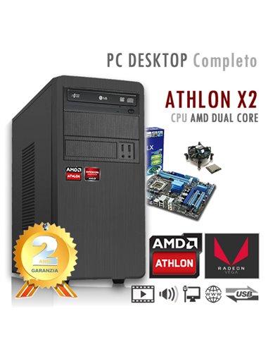PC AMD Athlon X2 200G Dual Core/Ram 8GB/SSD 240GB/PC Assemblato Completo Computer Desktop