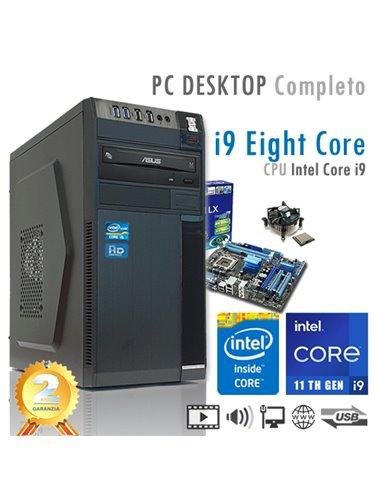 PC Intel Core i9-11900K Eight Core/Ram 8GB/Hd 1000GB (1TB)/PC Assemblato Completo Computer Desktop