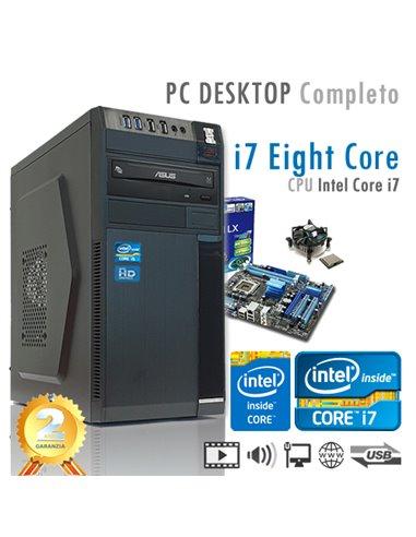 PC Intel Core i7-9700 Eight Core/Ram 8GB/SSD 480GB/PC Assemblato Completo Computer Desktop