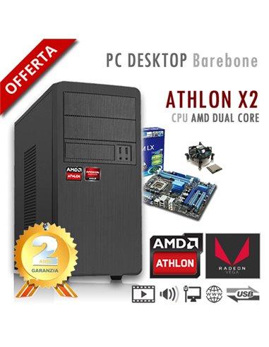 PC AMD Athlon X2 200G Dual Core/Ram 8GB/PC Assemblato Barebone Computer Desktop